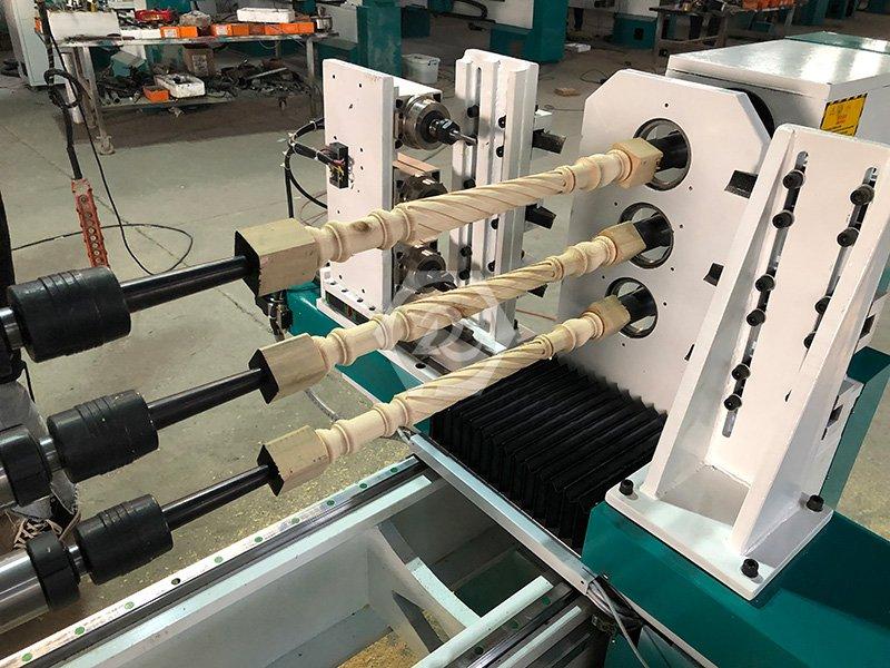 三轴六刀车拉雕多功能一体全自动数控木工车床
